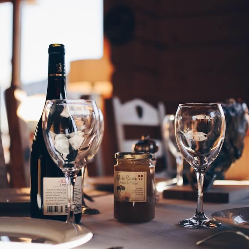 Wein und Prosecco Sekt